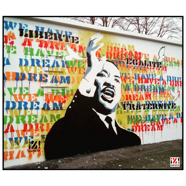 Collège Martin Luther King, Buc (78) -   - Street art © Zapata
